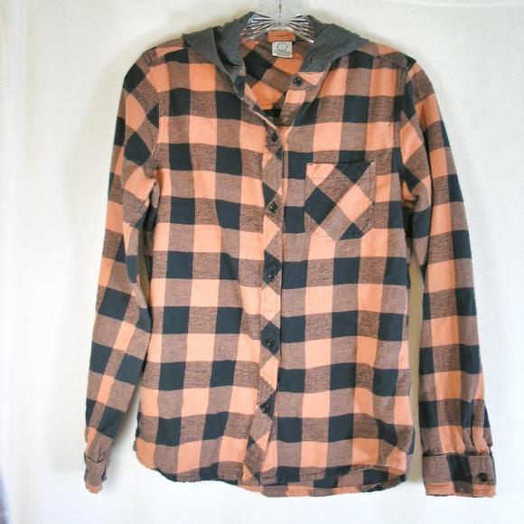8e7ebf47 Empyre Tops   Orange Black Flannel Shirt   Poshmark